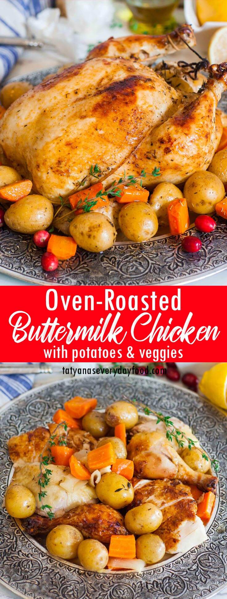 Oven Roasted Buttermilk Chicken