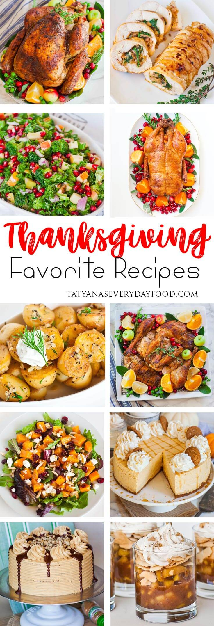 Thanksgiving Menu Favorite Recipes Tatyanas Everyday Food