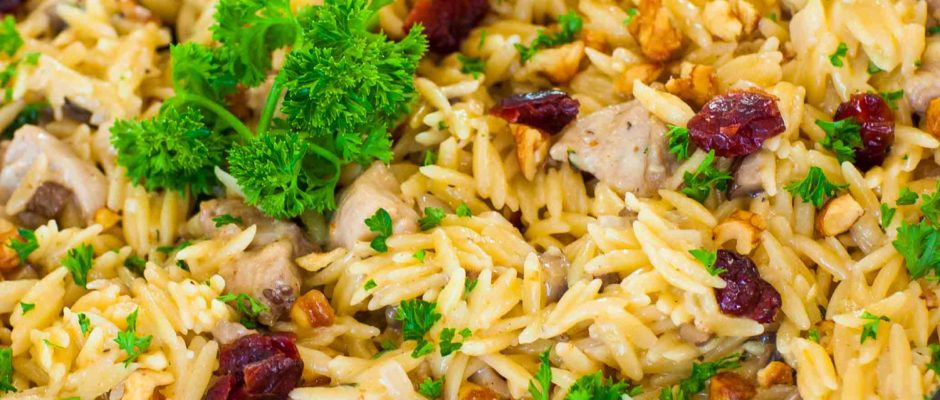 Creamy Chicken Orzo With Cranberry