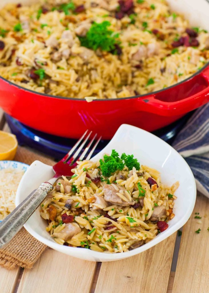 creamy chicken orzo recipe with cheese