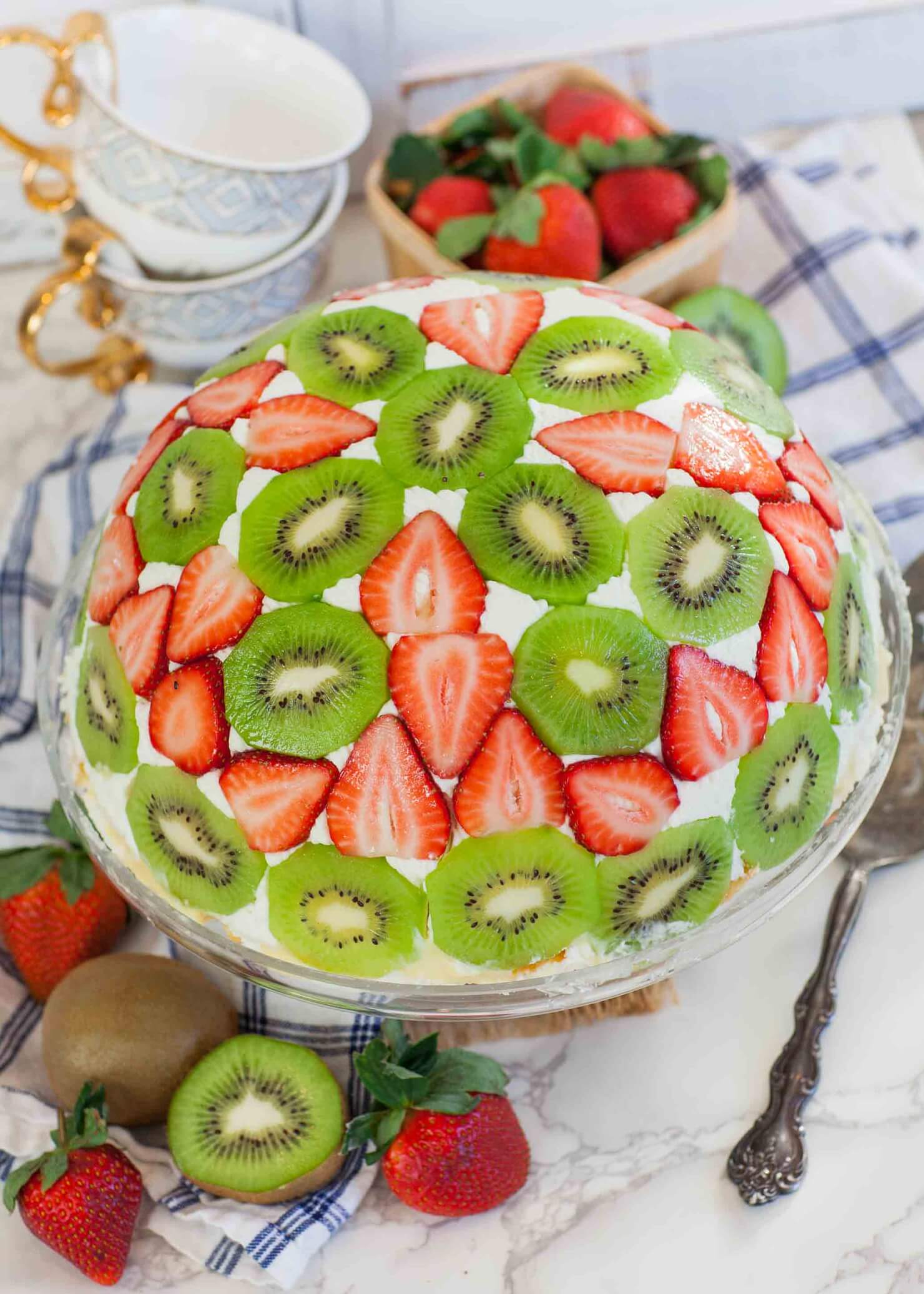 Domed Trifle Cake With Fruit