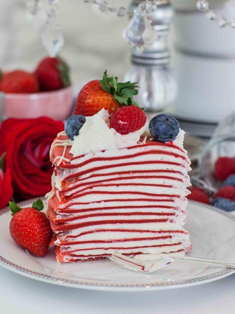 Red Velvet Crepe Cake Recipe