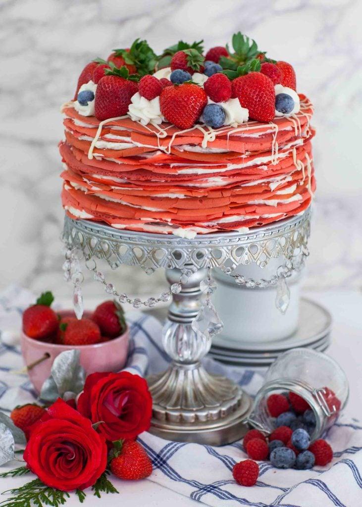 Red Velvet Crepe Cake Recipe Video Tatyanas Everyday Food
