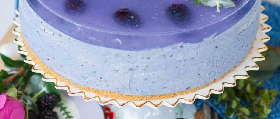 No-Bake Blackberry Lavender Mousse Cake