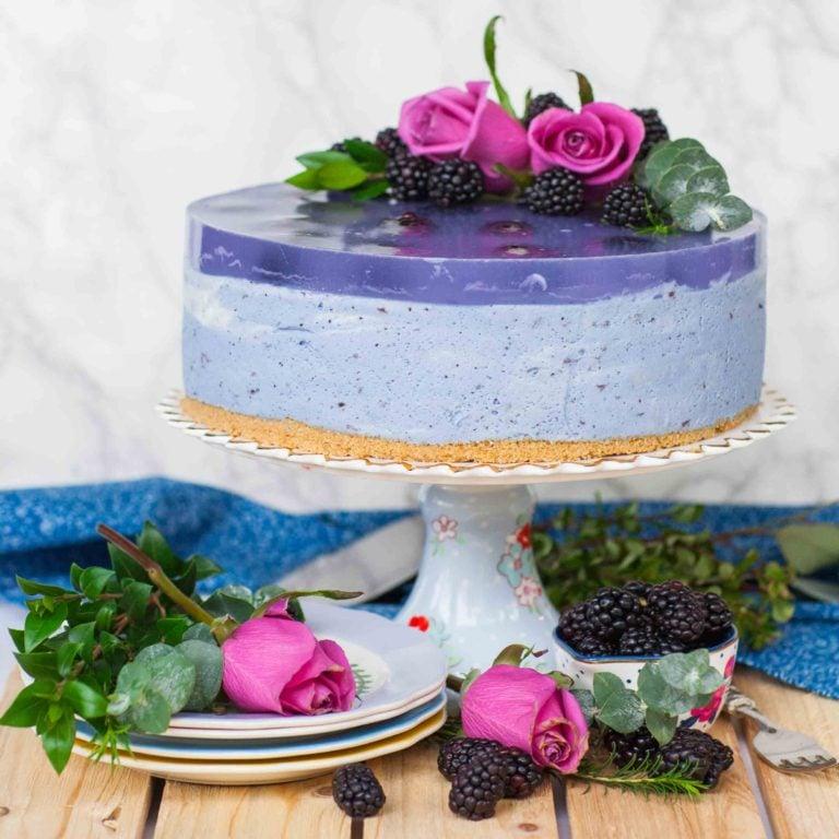 no bake lavender mousse cake recipe