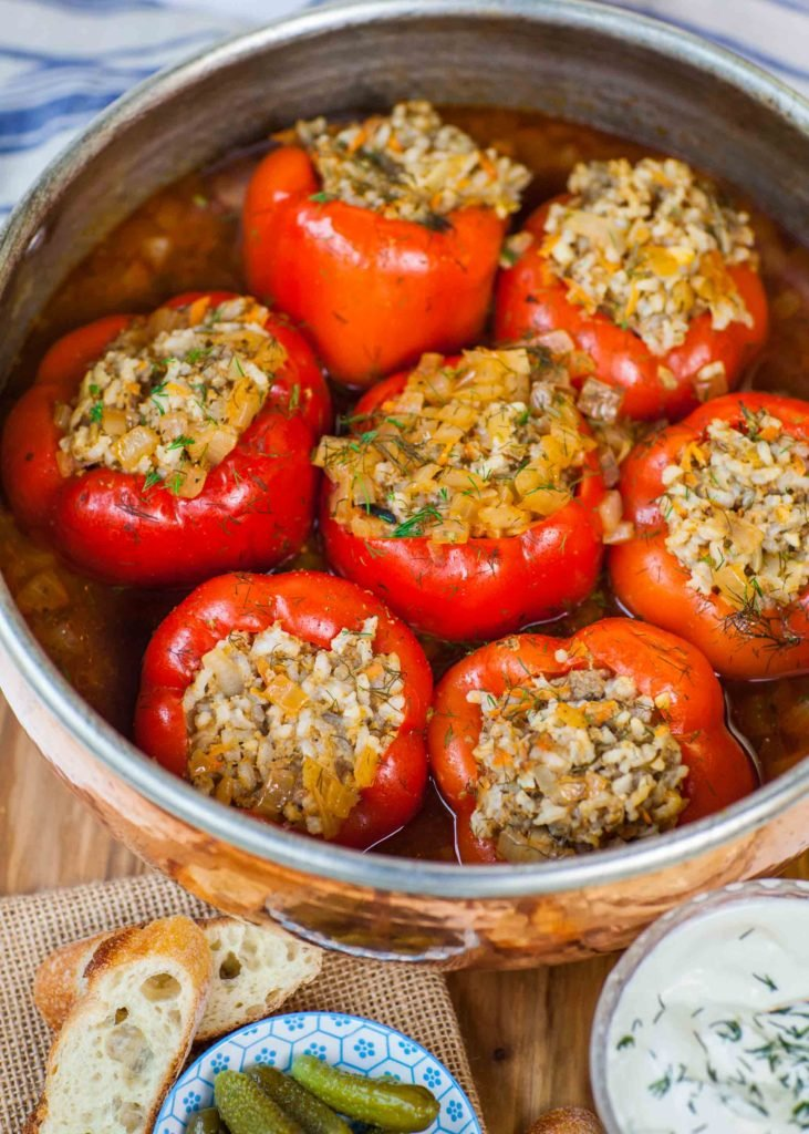 Easy Meat Amp Rice Stuffed Peppers Tatyanas Everyday Food