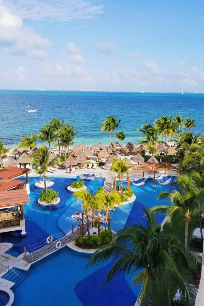 view from resort room at the Excellence