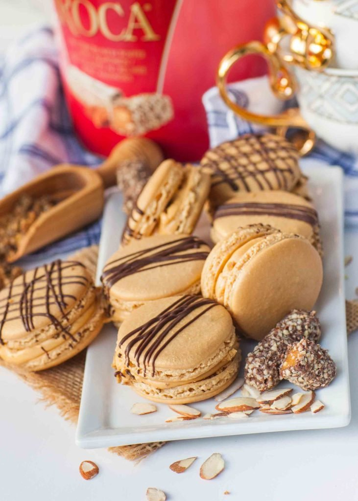 almond roca caramel french macaron recipe