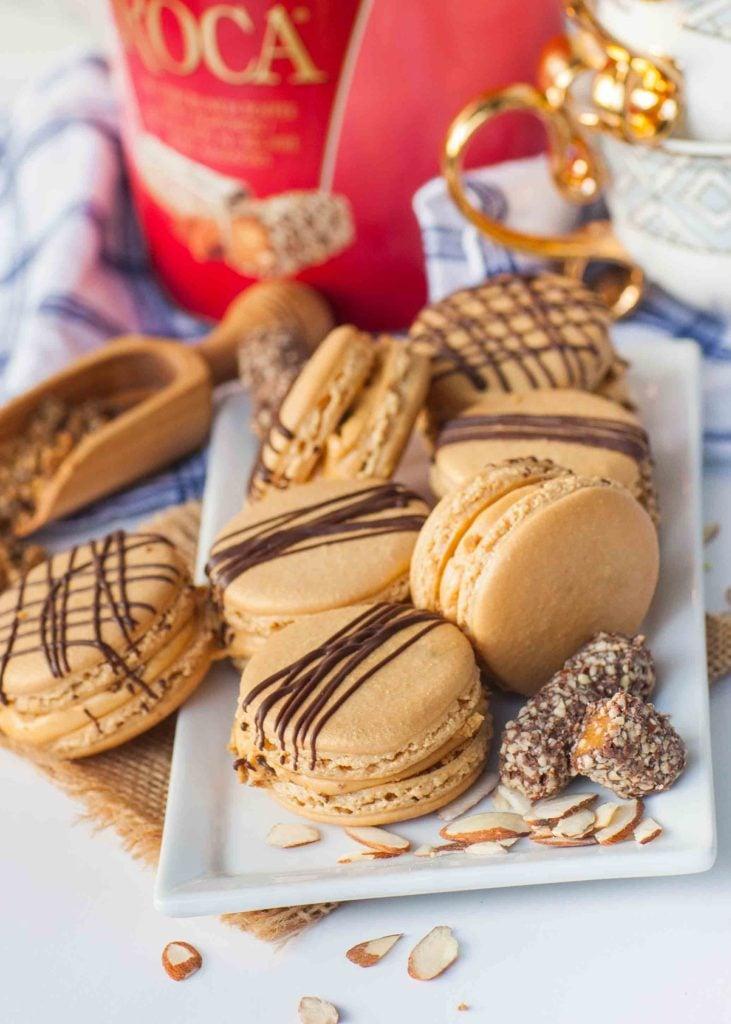almond roca caramel french macaron recipe