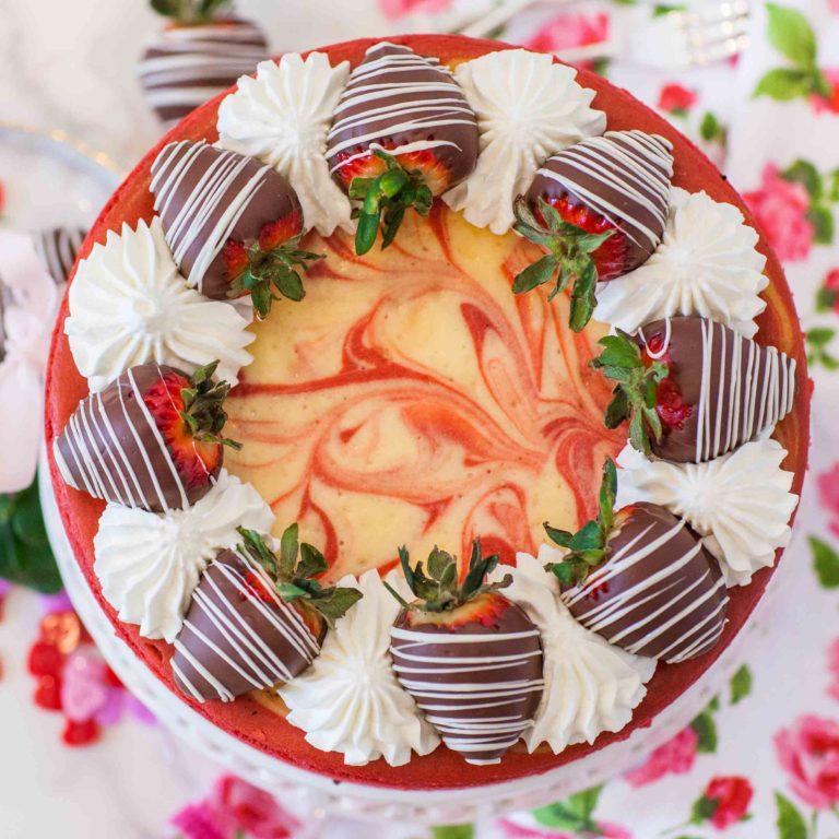 swirled cheesecake