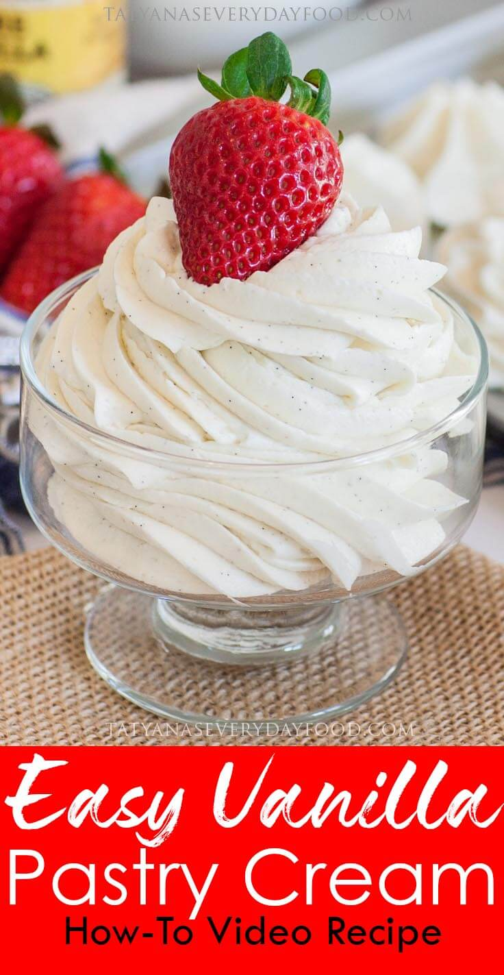 Easy Vanilla Pastry Cream +German Buttercream video recipe