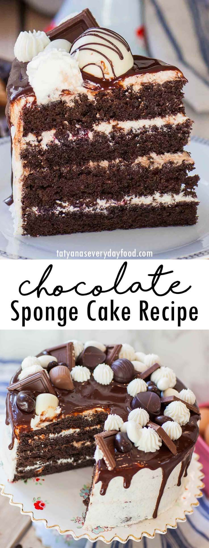 Chocolate Sponge Cake video recipe