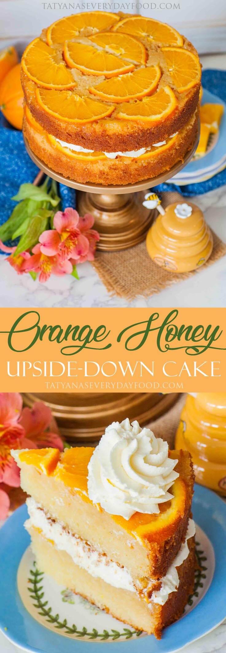 Honey Orange Upside-Down Cake recipe with video
