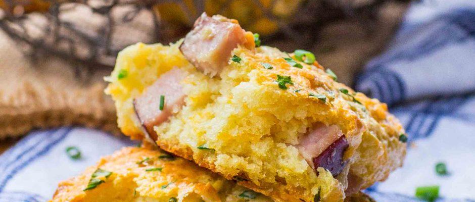 Easy Ham & Cheese Scones