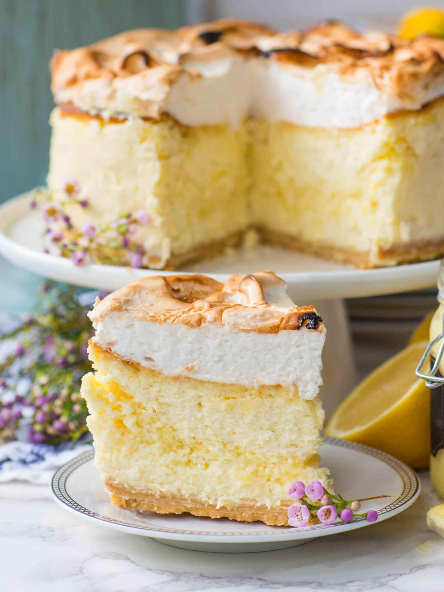 Triple Lemon Cheesecake With Meringue Topping Tatyanas Everyday Food