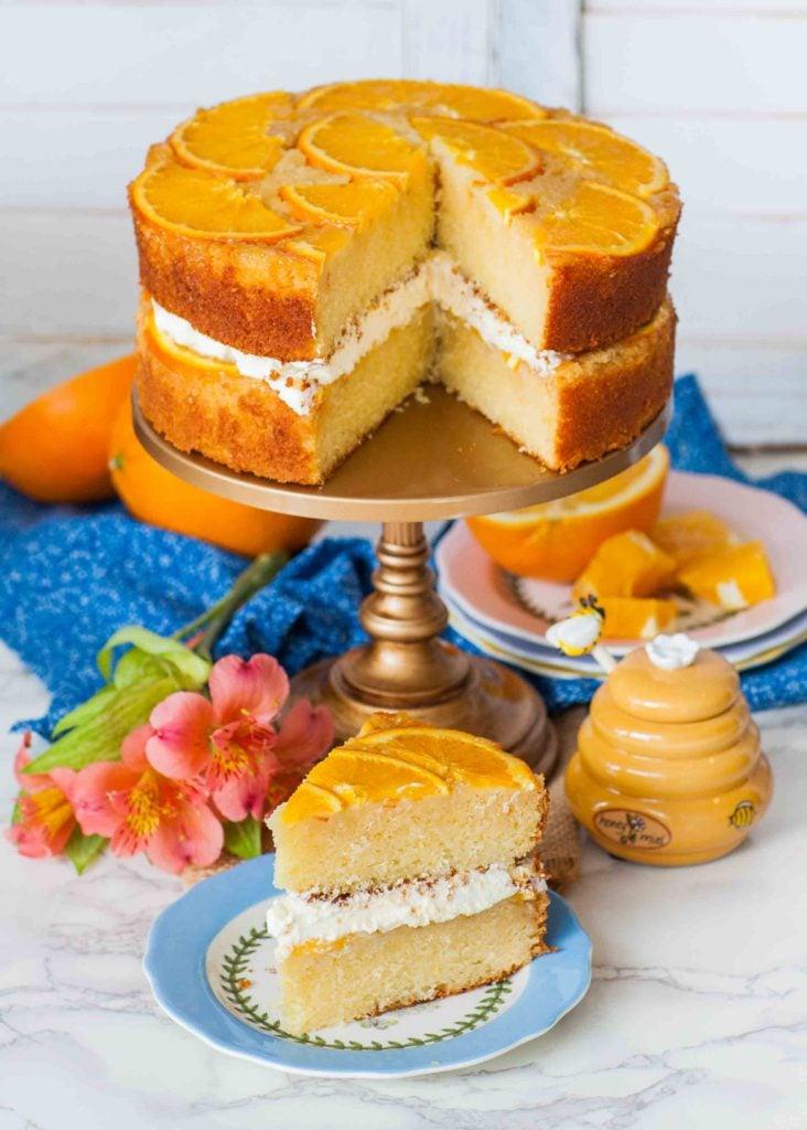orange cake recipe with whipped cream