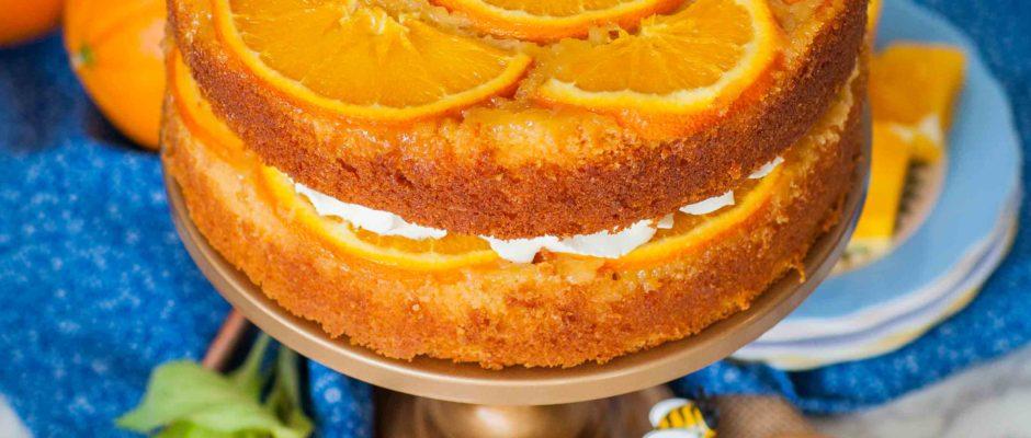 Upside-Down Honey Orange Cake +Cookbook Giveaway!