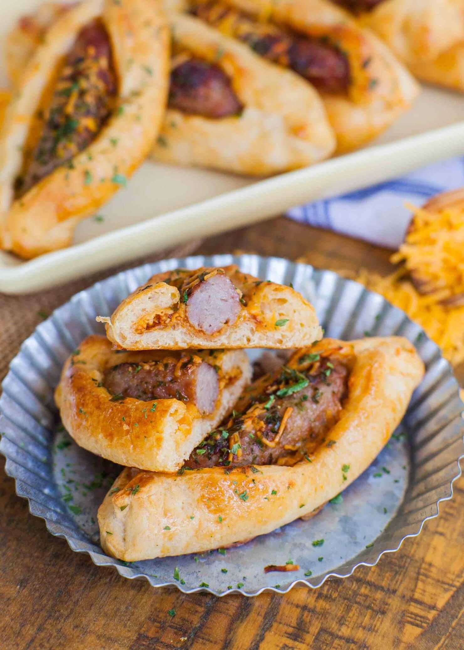 Cheddar Sausage Croissant Buns