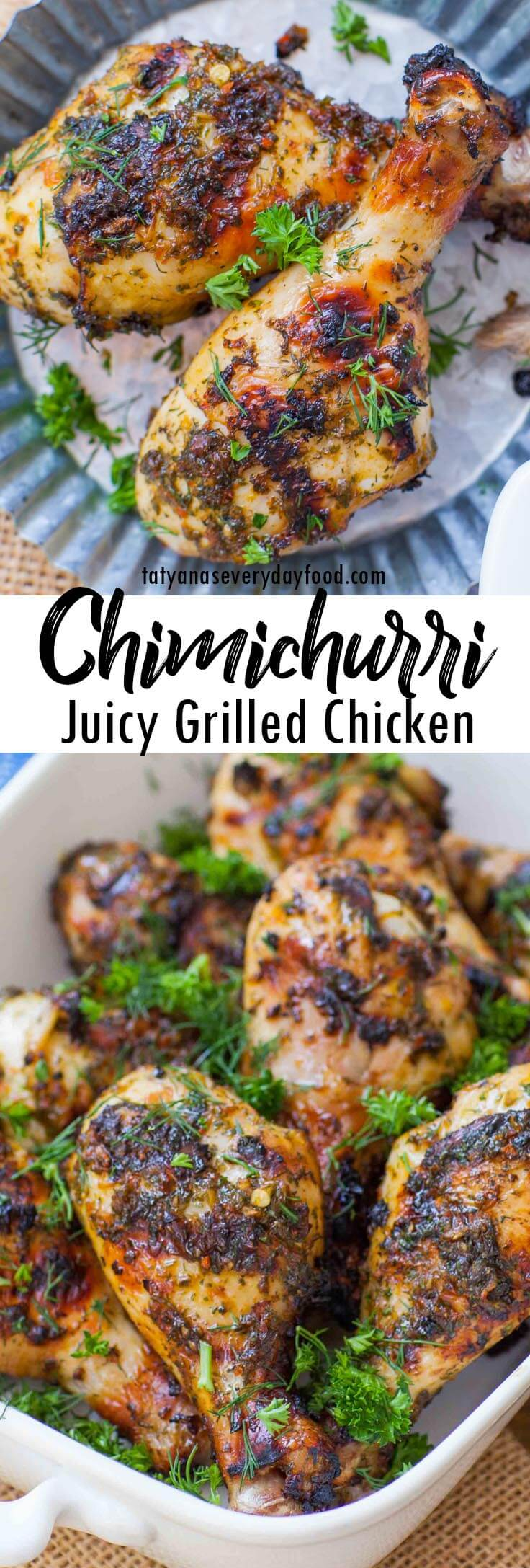 Easy Grilled Chimichurri Chicken video recipe
