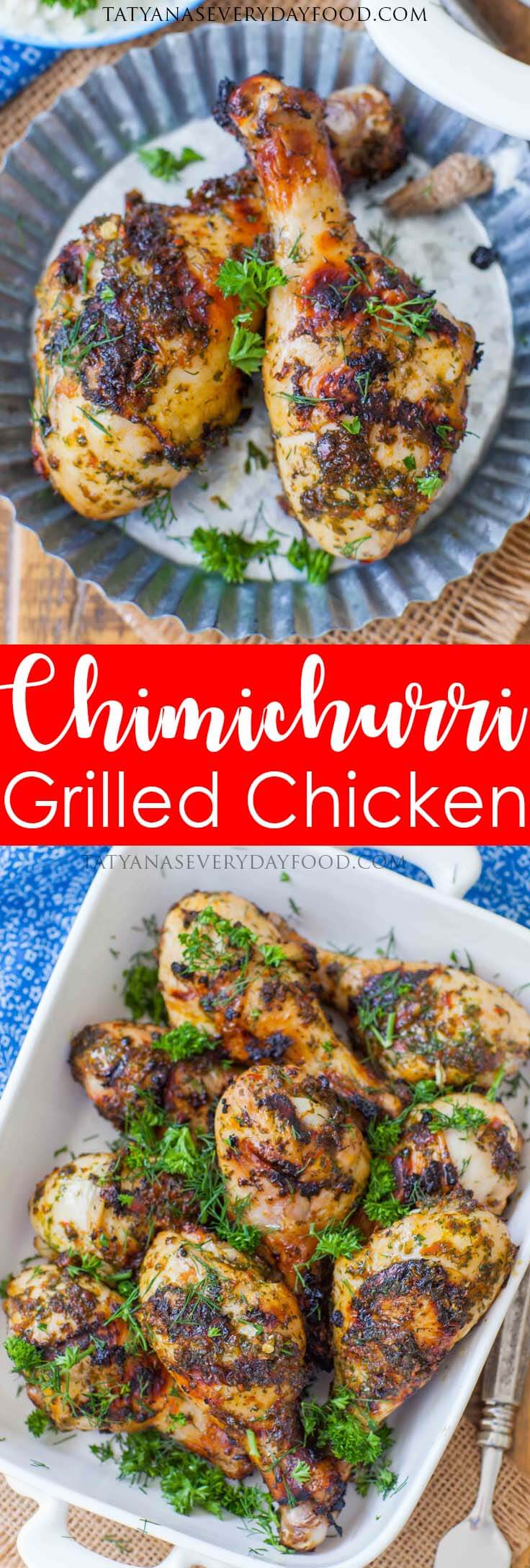 Grilled Chimichurri Chicken Drumsticks with video recipe