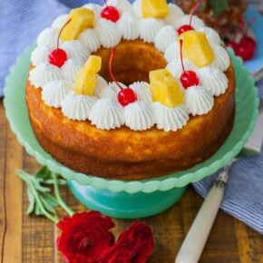 pineapple bundt cake recipe with whipped cream