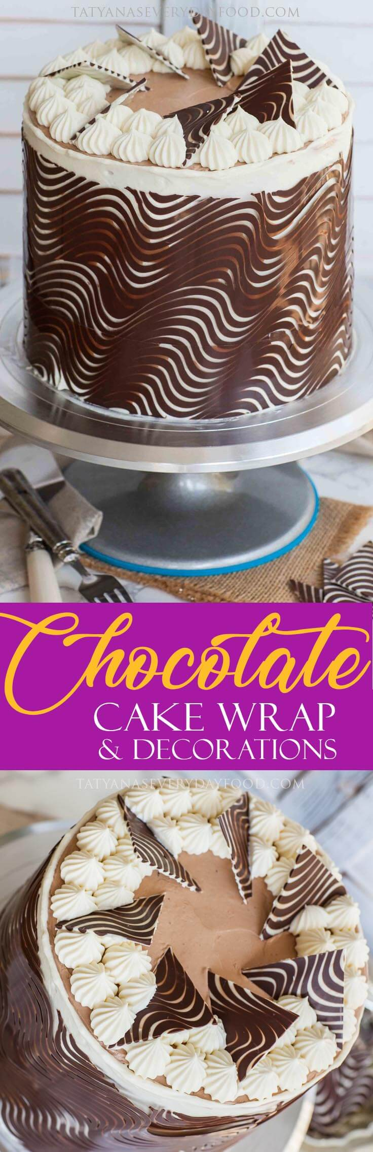 Chocolate Cake Wrap Decorating Tutorial with video