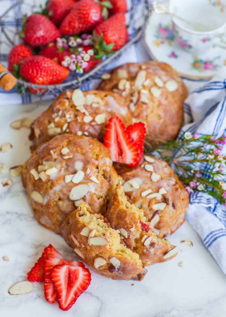 almond strawberry scones