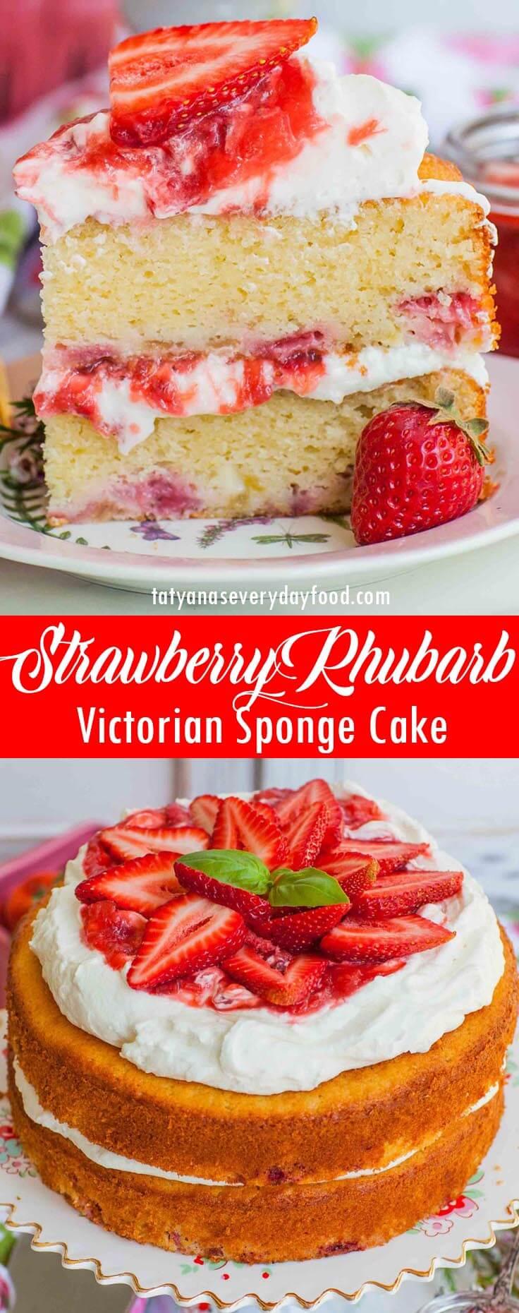 Strawberry Rhubarb Cake video recipe