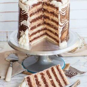12 layer chocolate cake slice