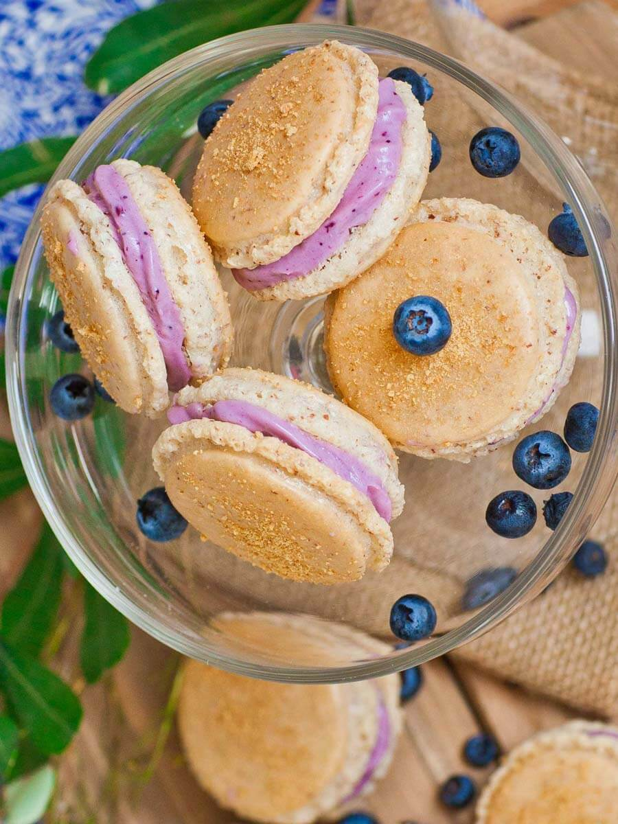 Blueberry Cheesecake Macarons Video Tatyanas Everyday Food