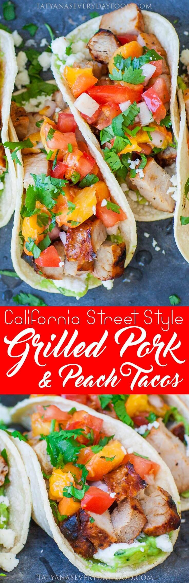 Grilled Peach & Pork Tacos video recipe