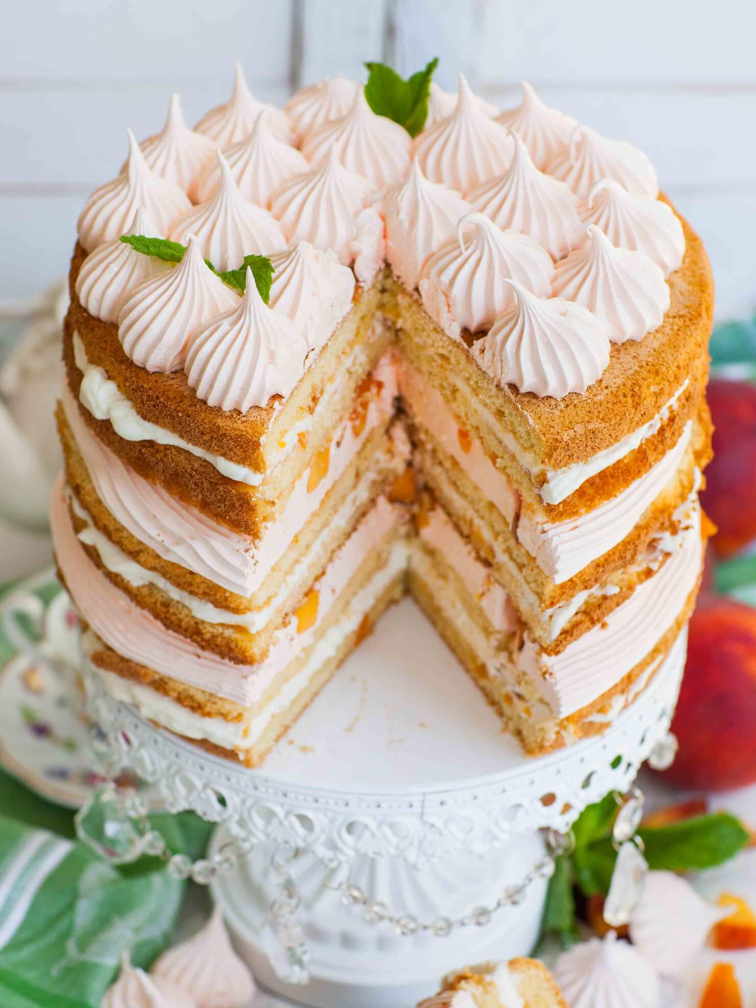 inside peach and cream cake recipe
