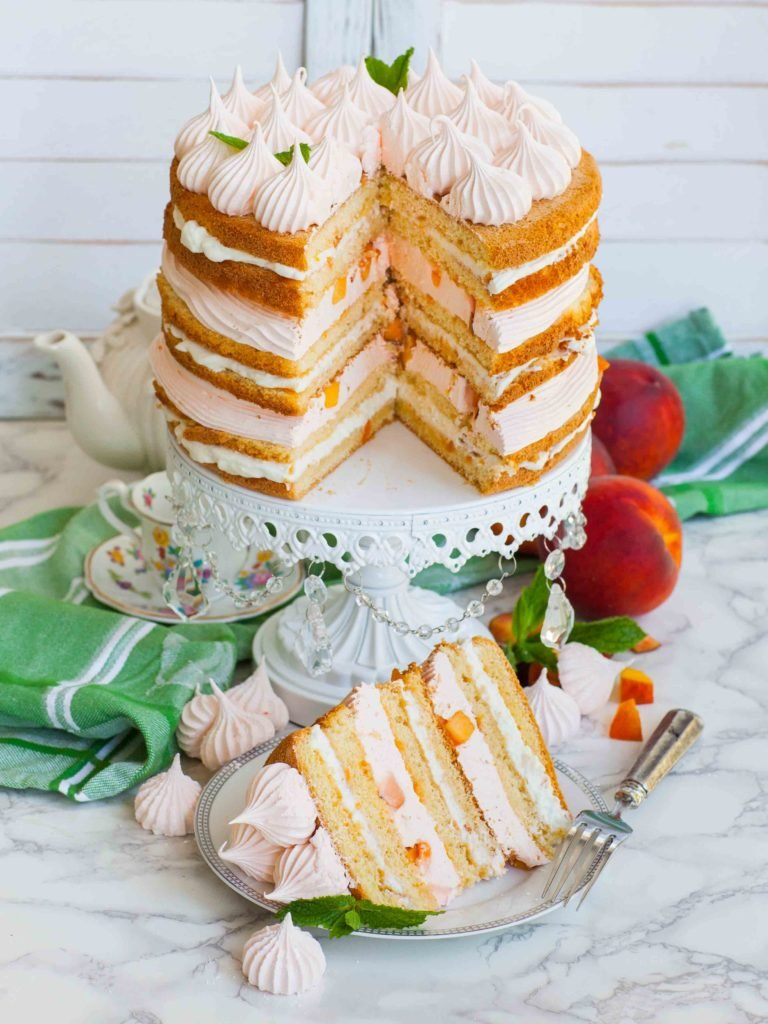 Russian cake recipe for peach cake