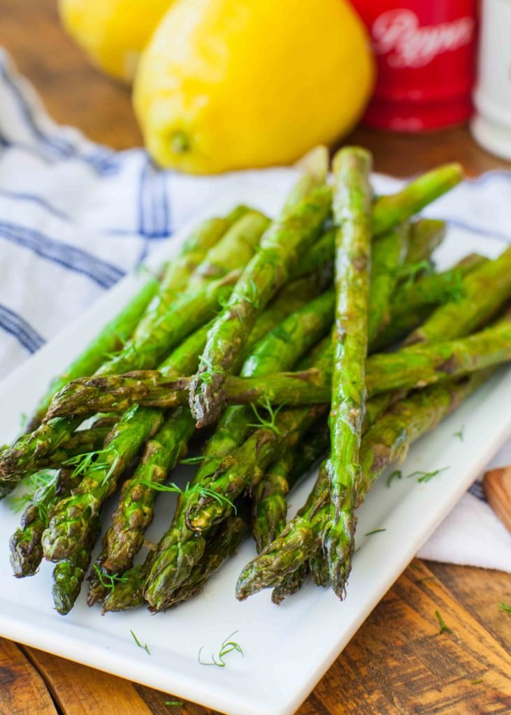 grilled asparagus with herbs and lemon