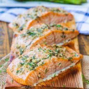 lemon herb cedar plank salmon recipe