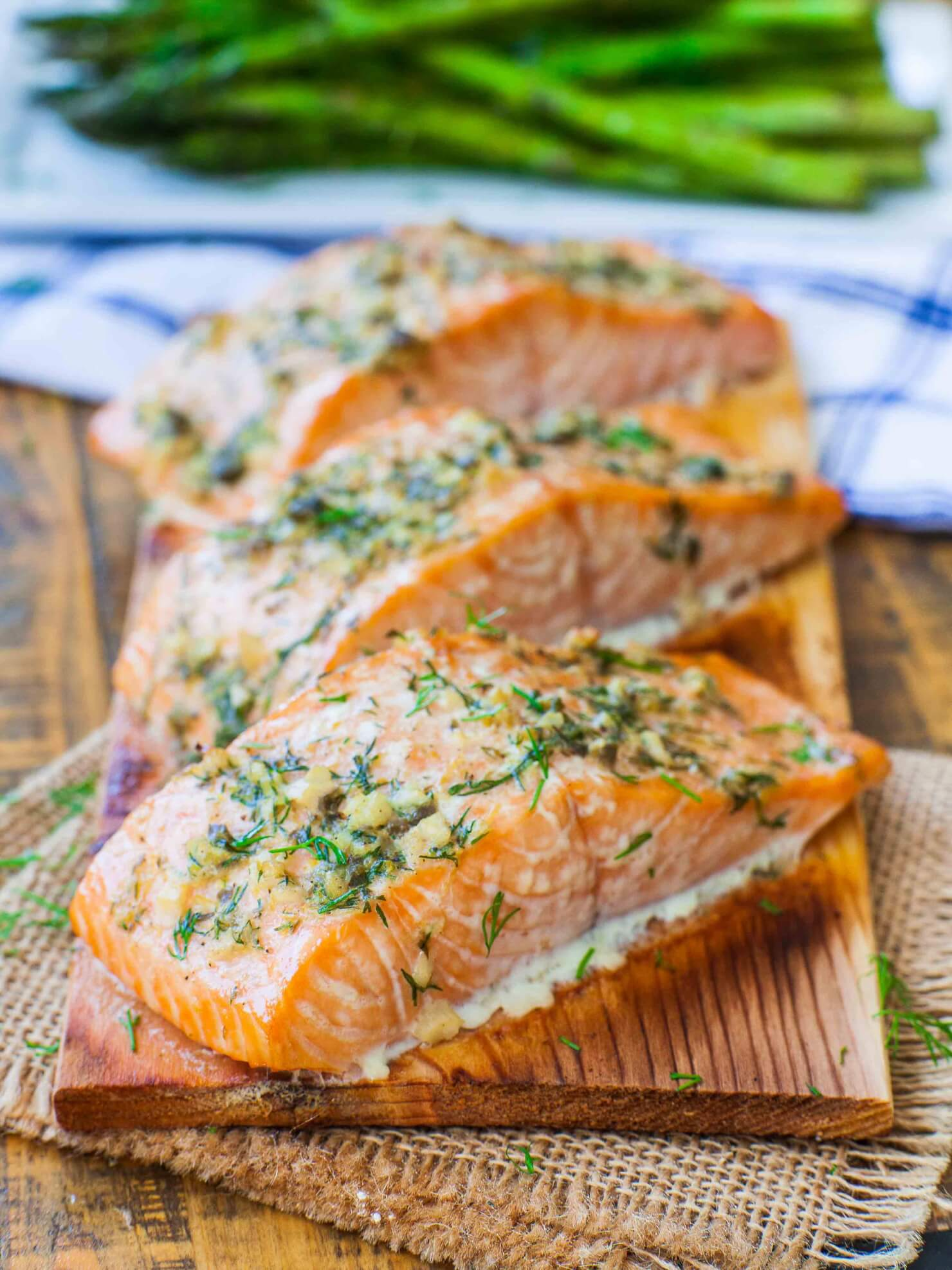 lemon herb cedar plank salmon recipe