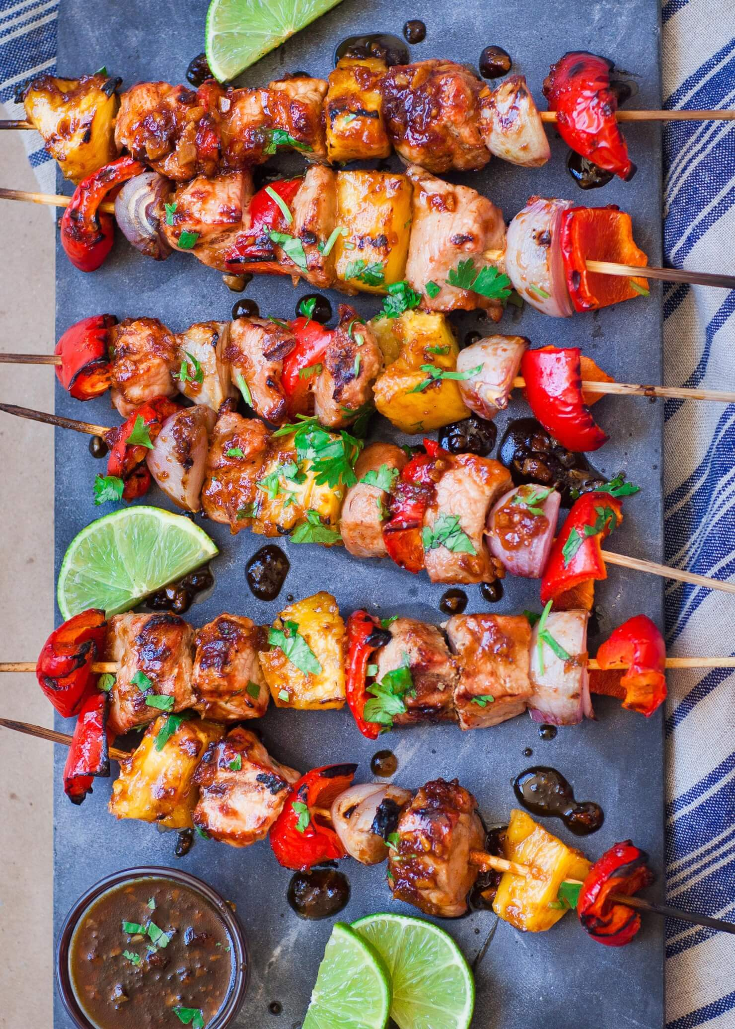 pineapple teriyaki pork kebabs