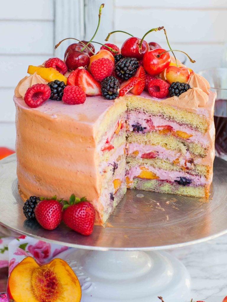 sliced sangria fruit cake recipe