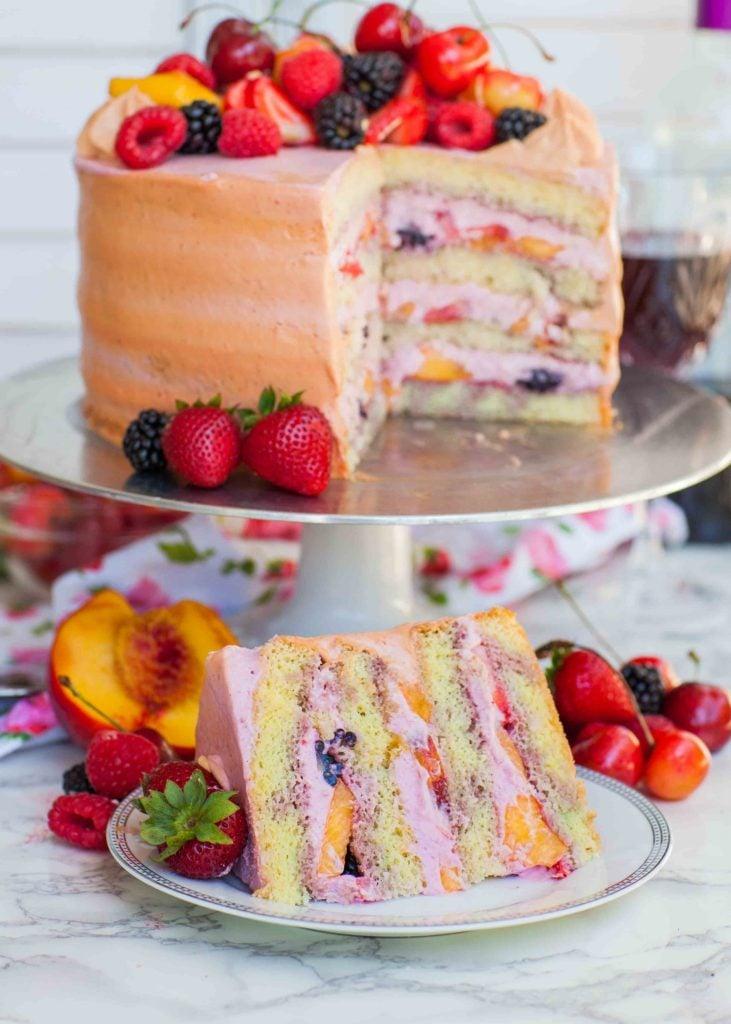 sangria cake slice