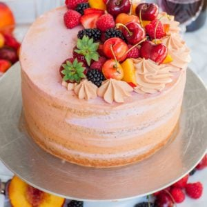 sangria cake recipe with fruit
