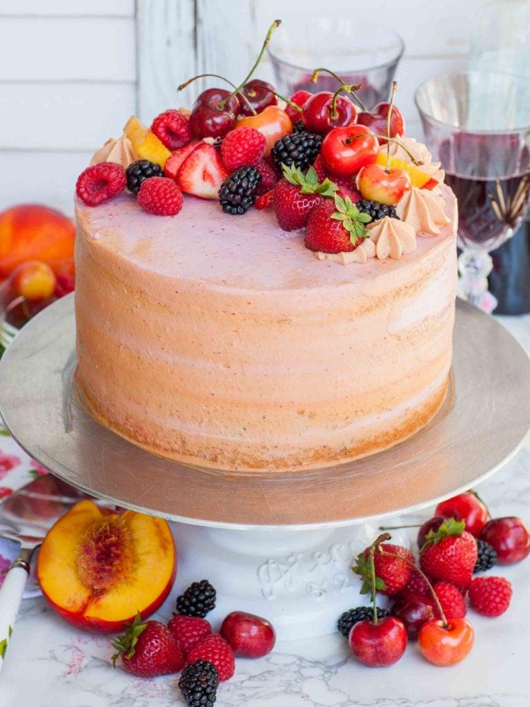 fresh fruit cake recipe with sangria, sangria cake