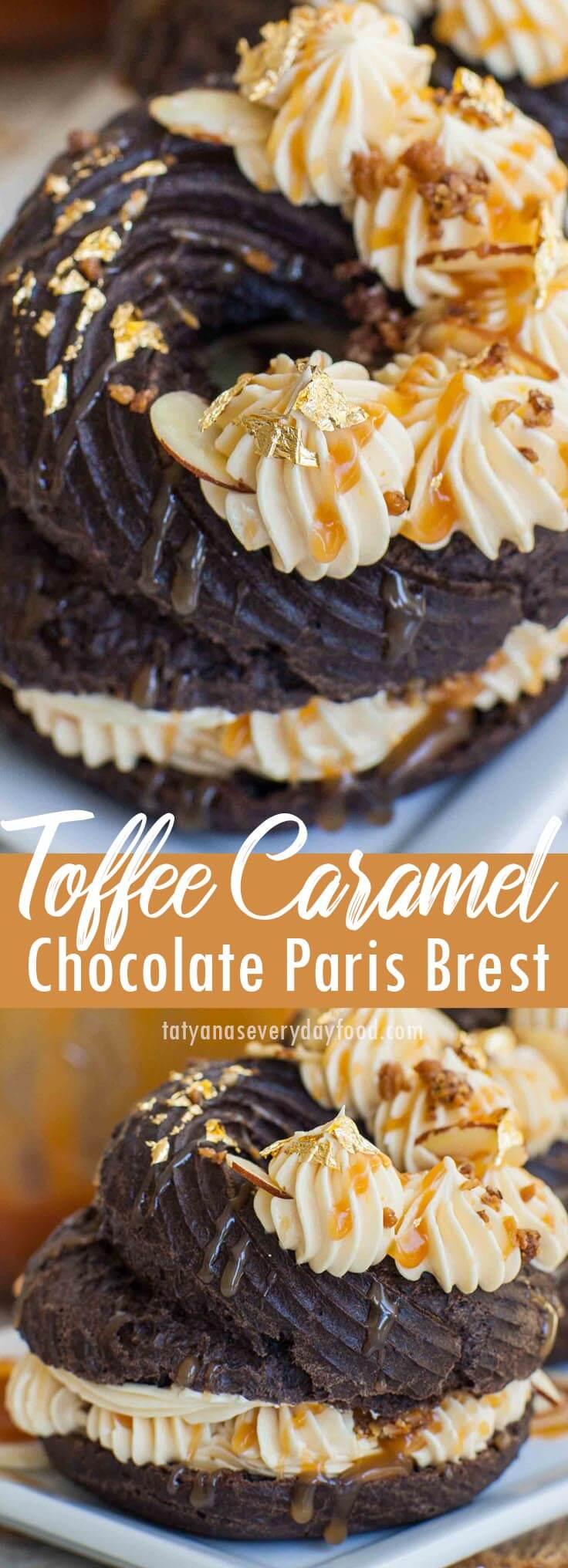 Toffee Caramel Chocolate Paris Brest