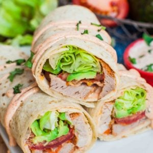 blta wraps for lunch