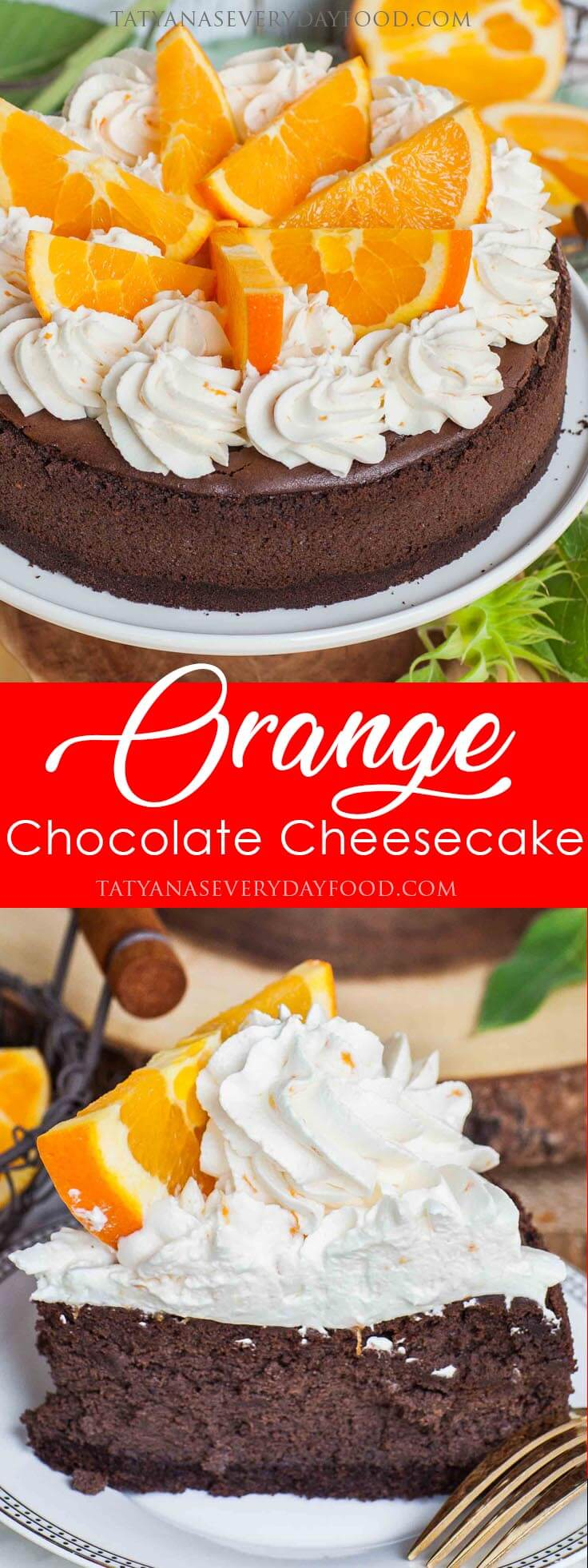 Chocolate Orange Cheesecake video recipe