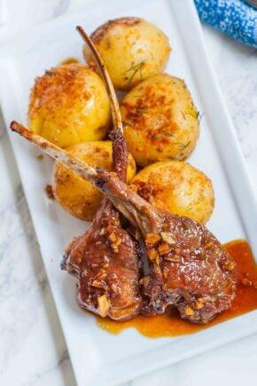 garlic lamb chops recipe