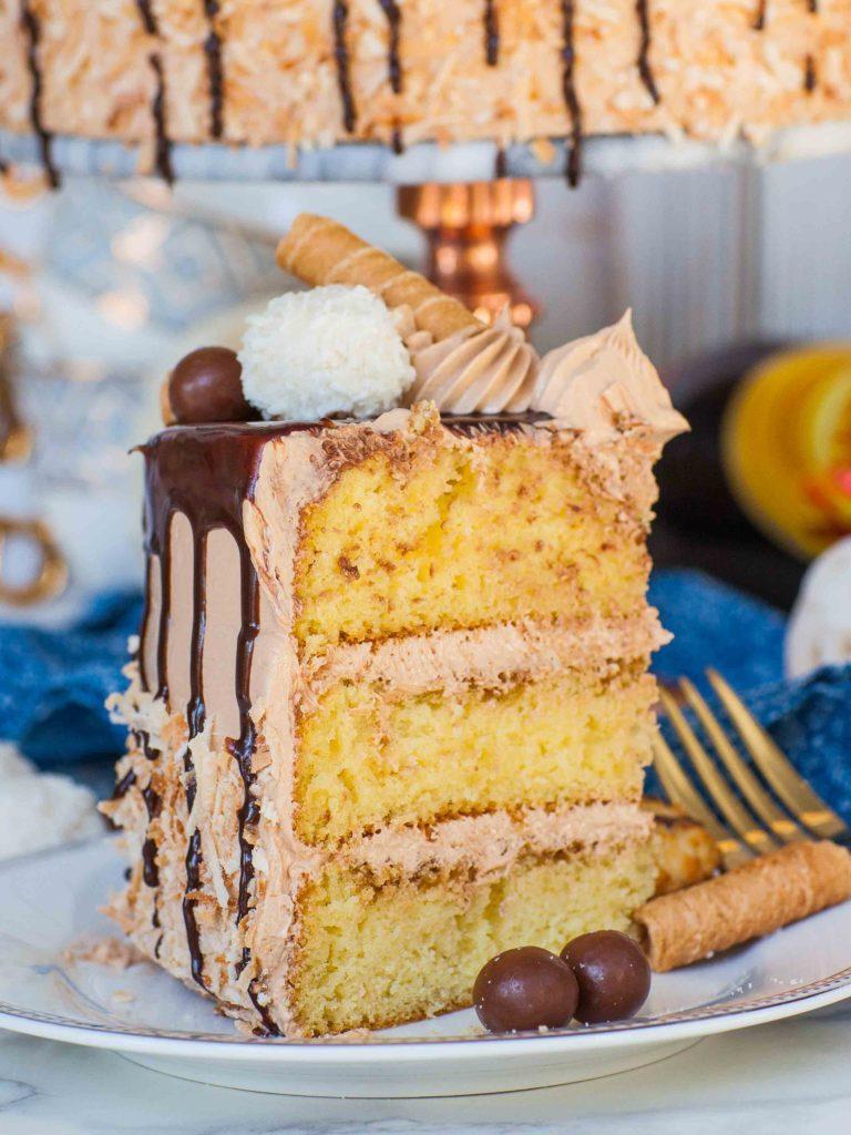 coconut cake slice