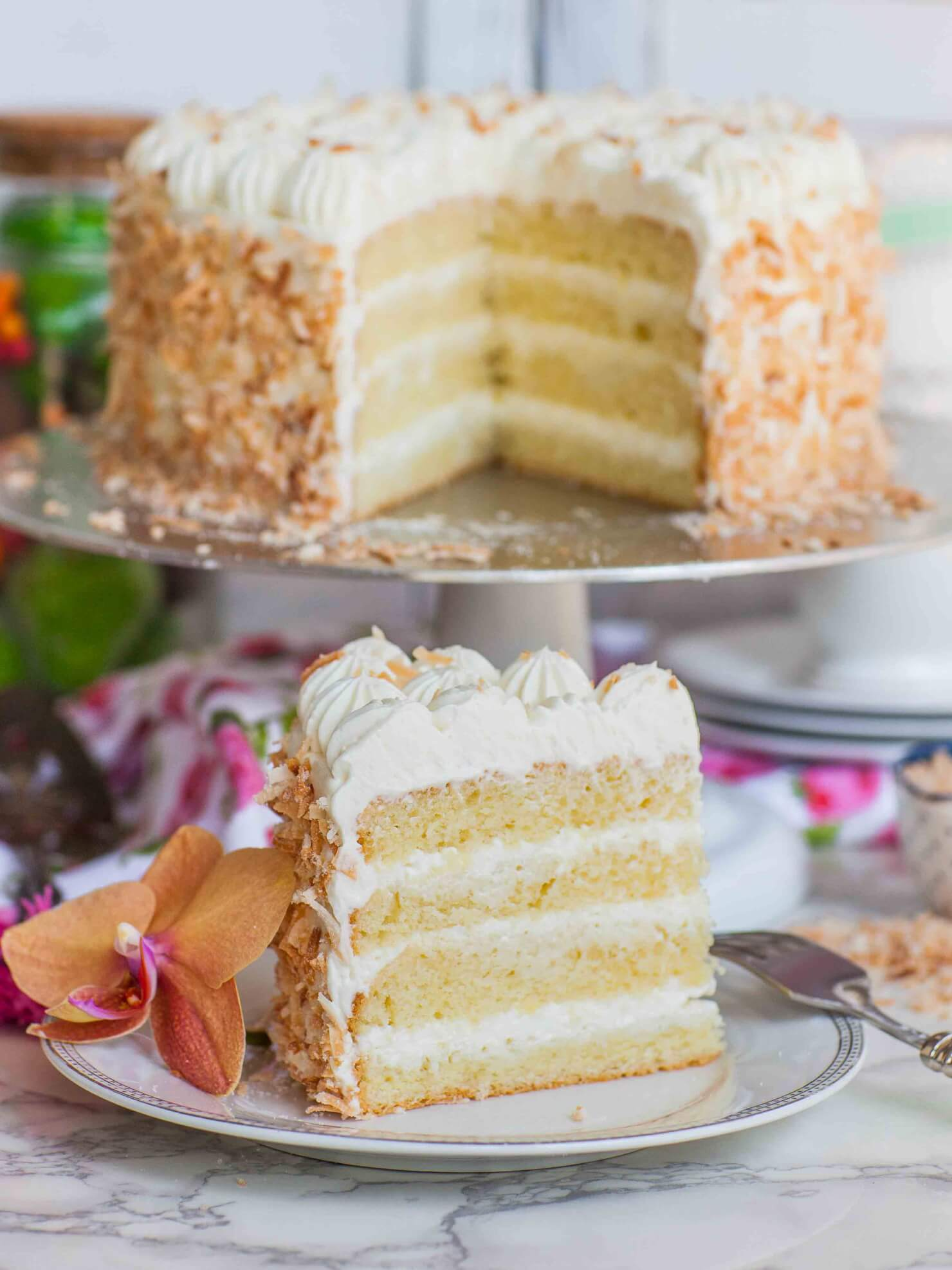 Italian wedding cake slice