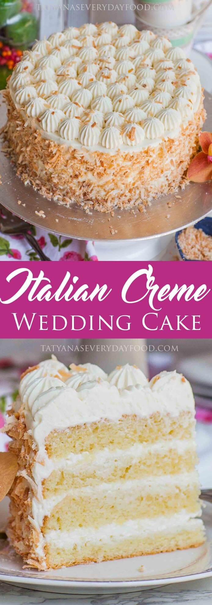 Italian Wedding Cake - Tatyanas Everyday Food