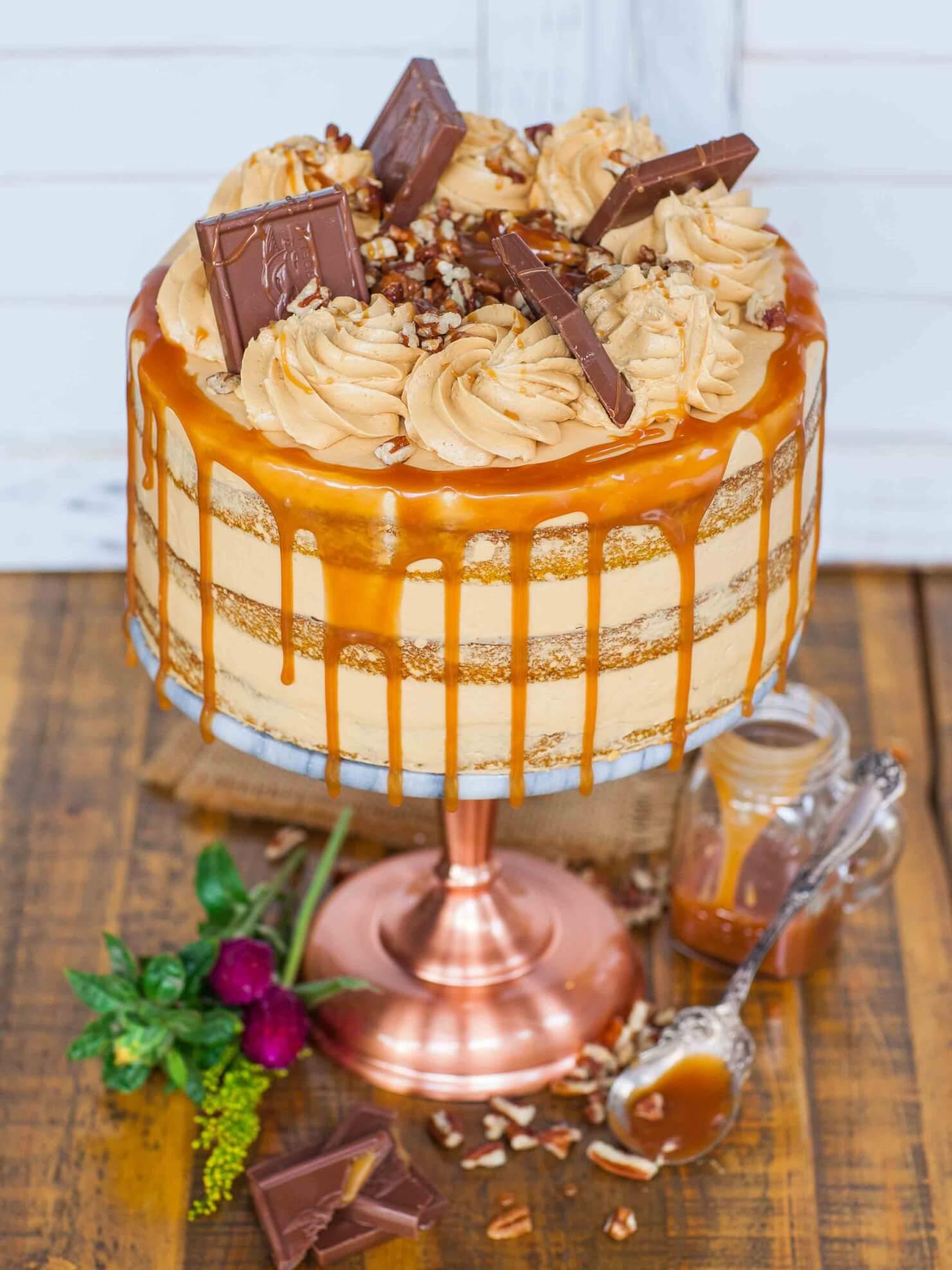 caramel pecan pumpkin cake recipe