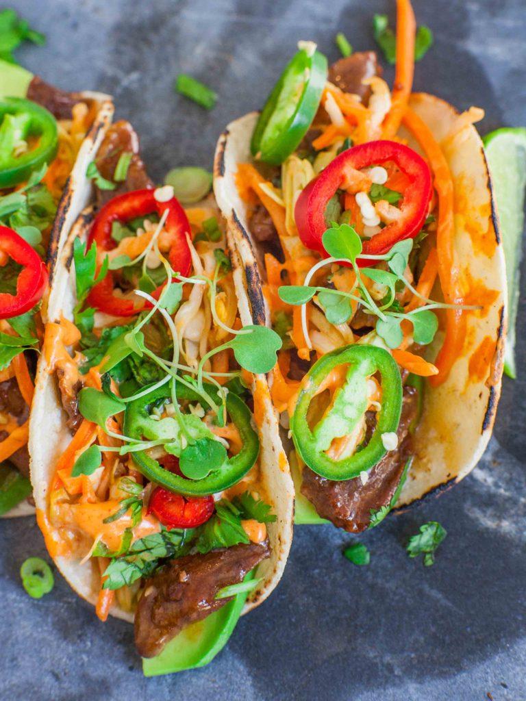 Kimchi Beef Tacos